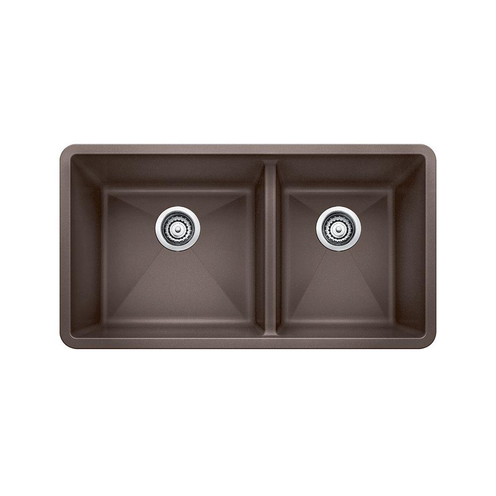 Silgranit Natural Granite Composite Kitchen Sink, Undermount, Café