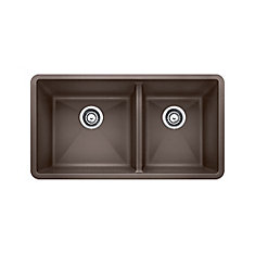 Silgranit Natural Granite Composite Kitchen Sink, Undermount, Café