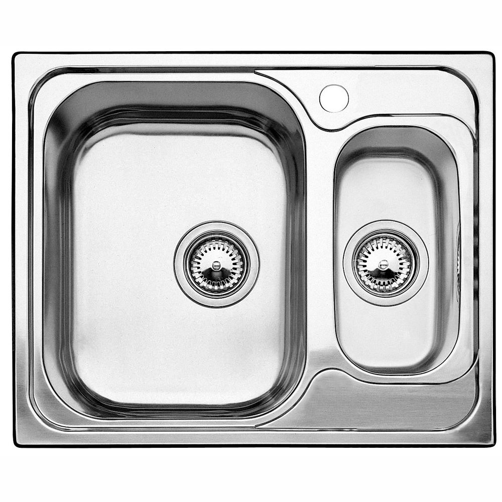 1 1/2  Drop-In Stainless Steel Kitchen Sink With Left-Side Prep Bowl