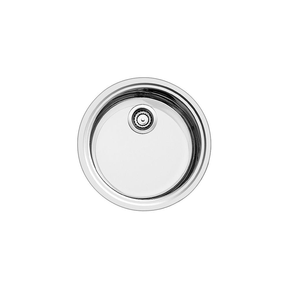 Évier de bar circulaire, acier inoxydable, montage en surface