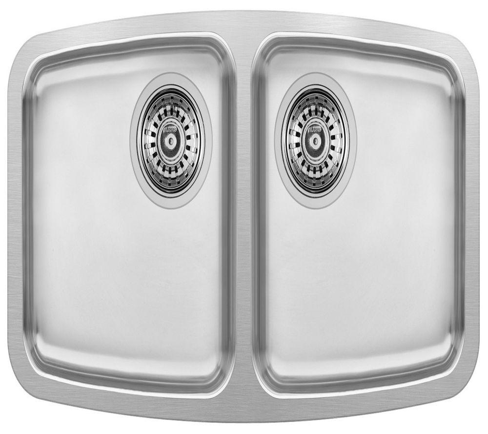 Évier de cuisine en acier inoxydable de première qualité, montage sous plan