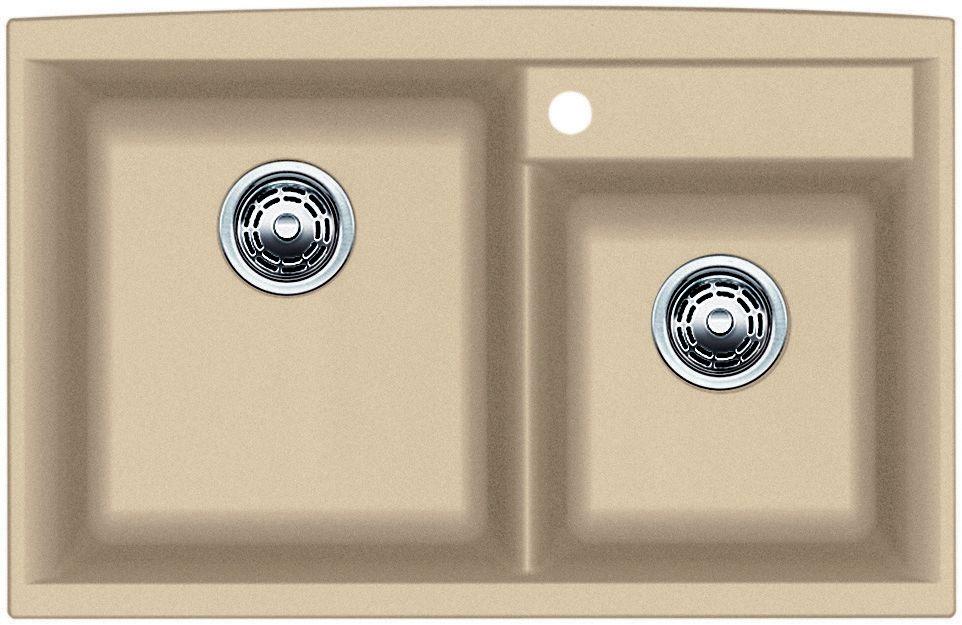 Silgranit, Natural Granite Composite Kitchen Sink, Topmount, Biscotti