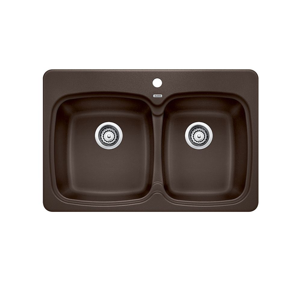 Silgranit Natural Granite Composite Kitchen Sink, Topmount, Caf SOP1157 Canada Discount