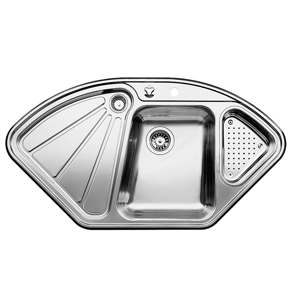 Single Bowl Topmount Stainless Steel Corner Sink