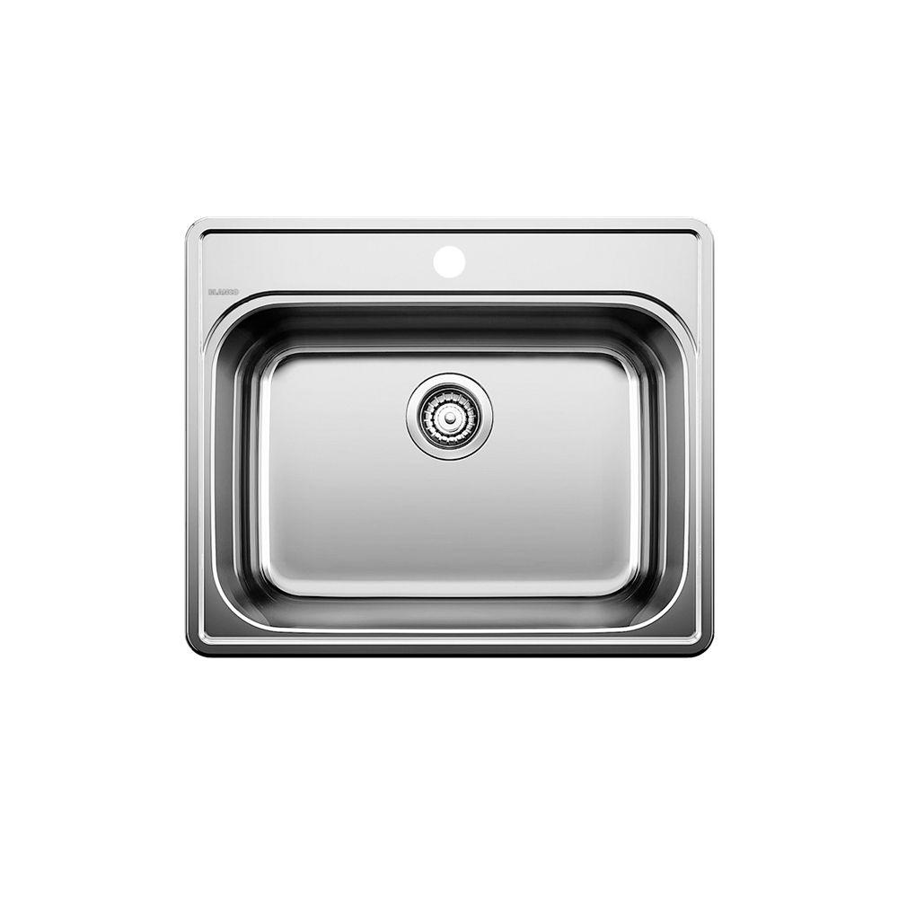 Blanco vier de cuisine en acier inoxydable 1 trou for Montage evier cuisine