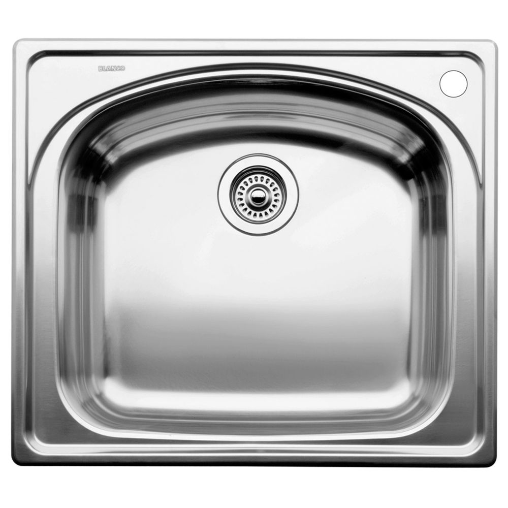Blanco Top Mount Kitchen Sinks : Blanco Single Bowl Topmount Stainless Steel Kitchen Sink The Home ...