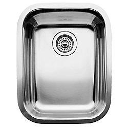 Blanco Évier de cuisine en acier inoxydable, 1 cuve, montage sous plan