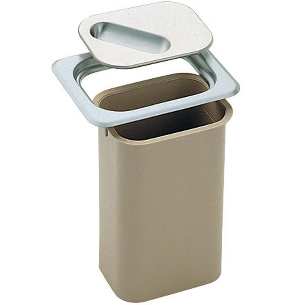 Countertop Waste Management  Stainless Steel Rim And Lid With Chute