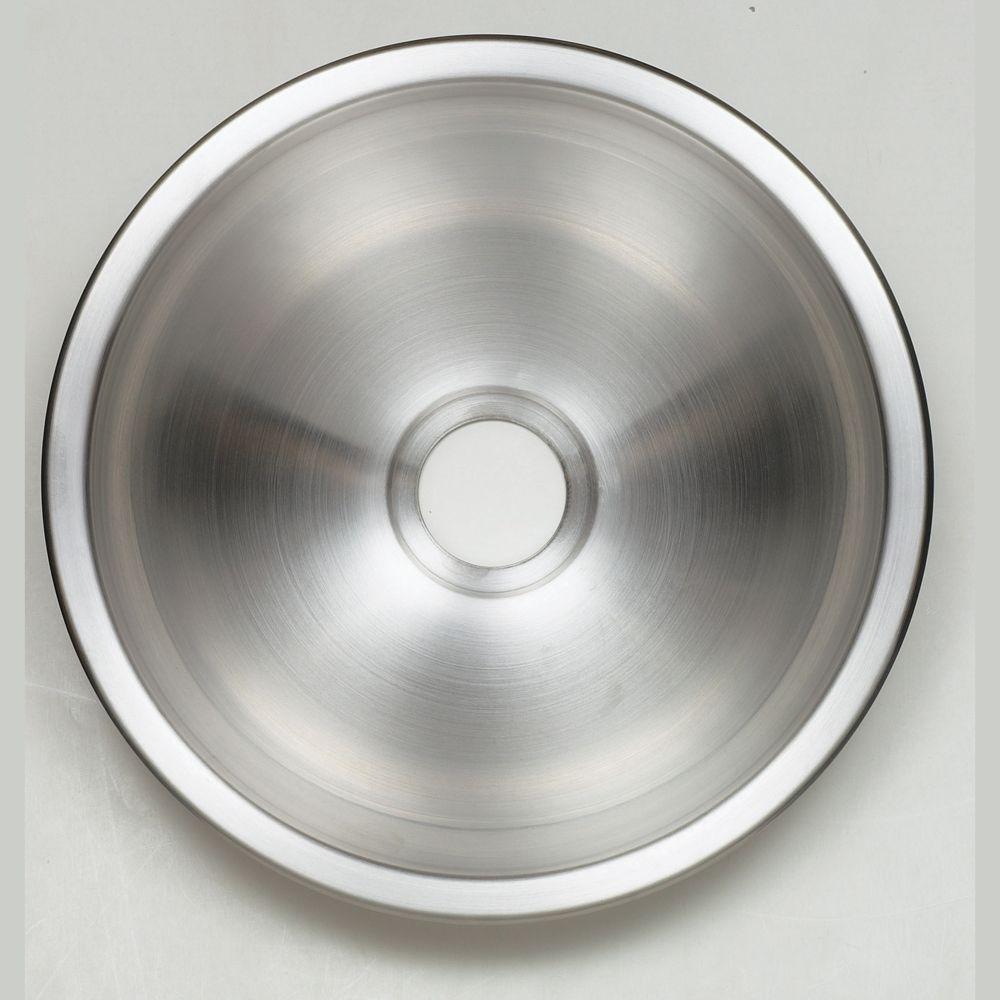 Évier de salle de bain circulaire en acier inoxydable