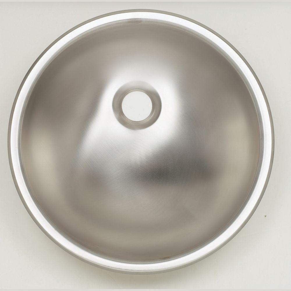 Round Bathroom Sink in Stainless Steel