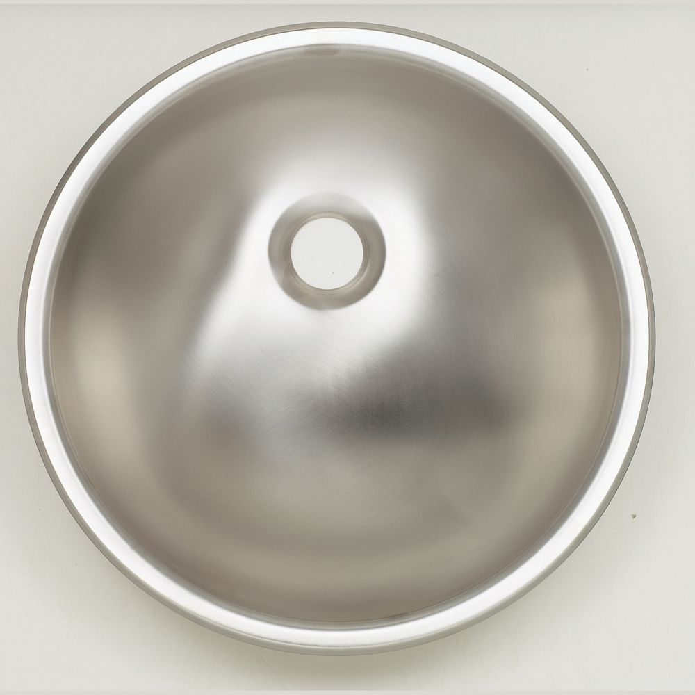Round Bathroom Sink in Stainless Steel