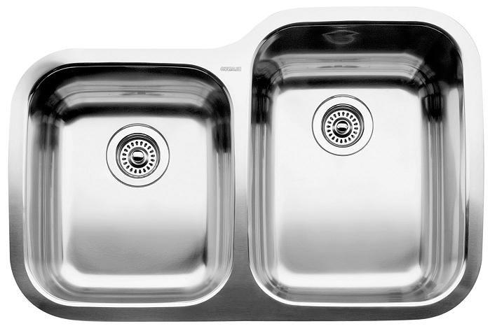 Évier de cuisine en acier inoxydable, montage sous plan, fabriqué en Allemagne