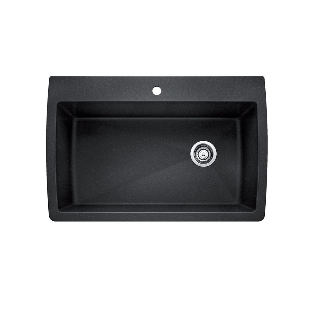 Single Bowl Topmount Sink Granite Anthracite The Home