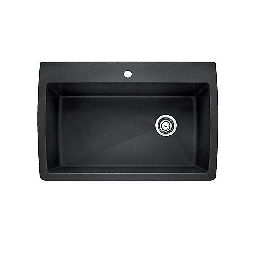 Single Bowl top mount Sink, Granite, Anthracite