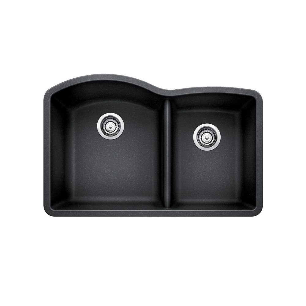 Blanco Silgranit Natural Granite, 1 1/2 Bowl Undermount Sink, Anthracite