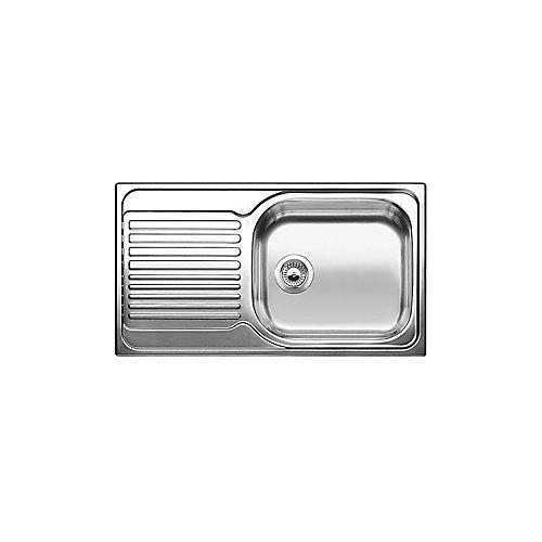 Single Bowl, Left-Hand Drainboard Top Mount Stainless Steel Kitchen Sink