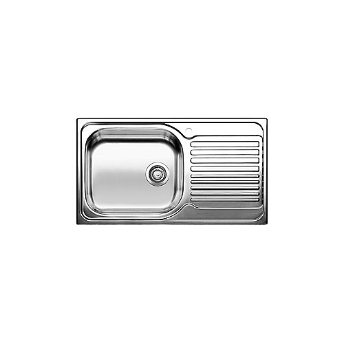 Single Bowl, Right-Hand Drainboard Top Mount Stainless Steel Kitchen Sink