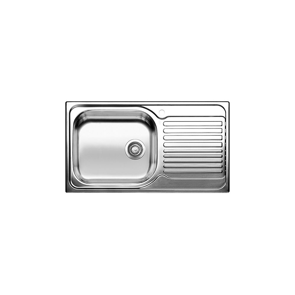 surprising Single Bowl Stainless Steel Sink With Drainboard Part - 5: Blanco Single Bowl, Right-Hand Drainboard Top Mount Stainless Steel Kitchen  Sink | The Home Depot Canada