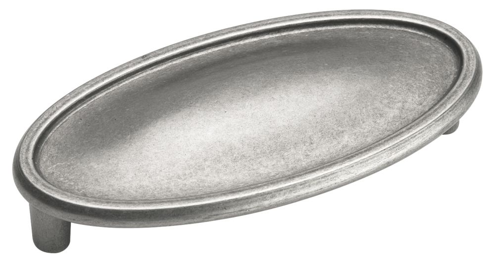 Manor cup pull -  oval, 3 In. Centre