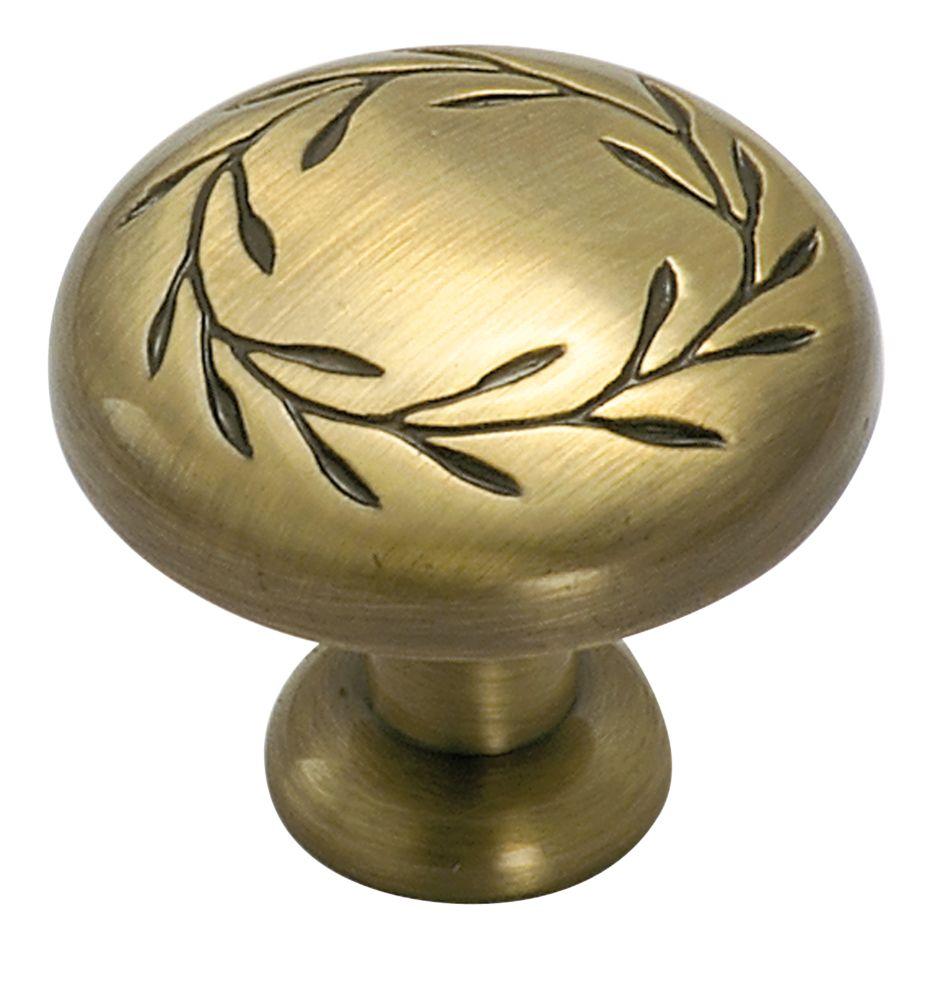 Inspirations knob - leaf, 1-1/4 In. diameter