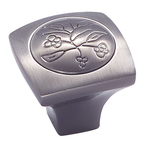 Vineyard knob - new royal leaf, 1-1/8 In. sq diameter