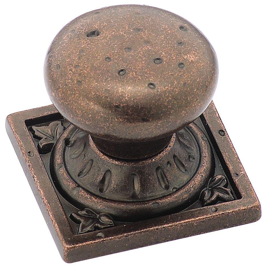 Bouton Diamètre de 1 1/4 po AMBROSIA� Collection- FINI BRONZE RUSTIQUE