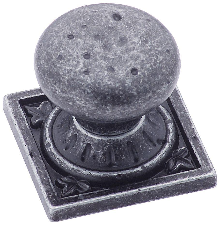 Ambrosia knob - euro stone, square, 1-1/4 In. diameter
