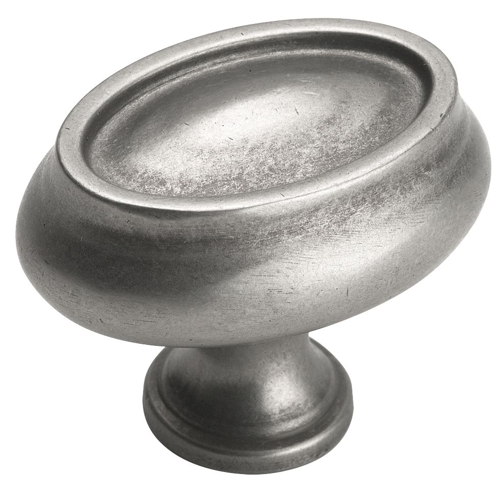 Manor knob -  oval, 1-1/2 In. length