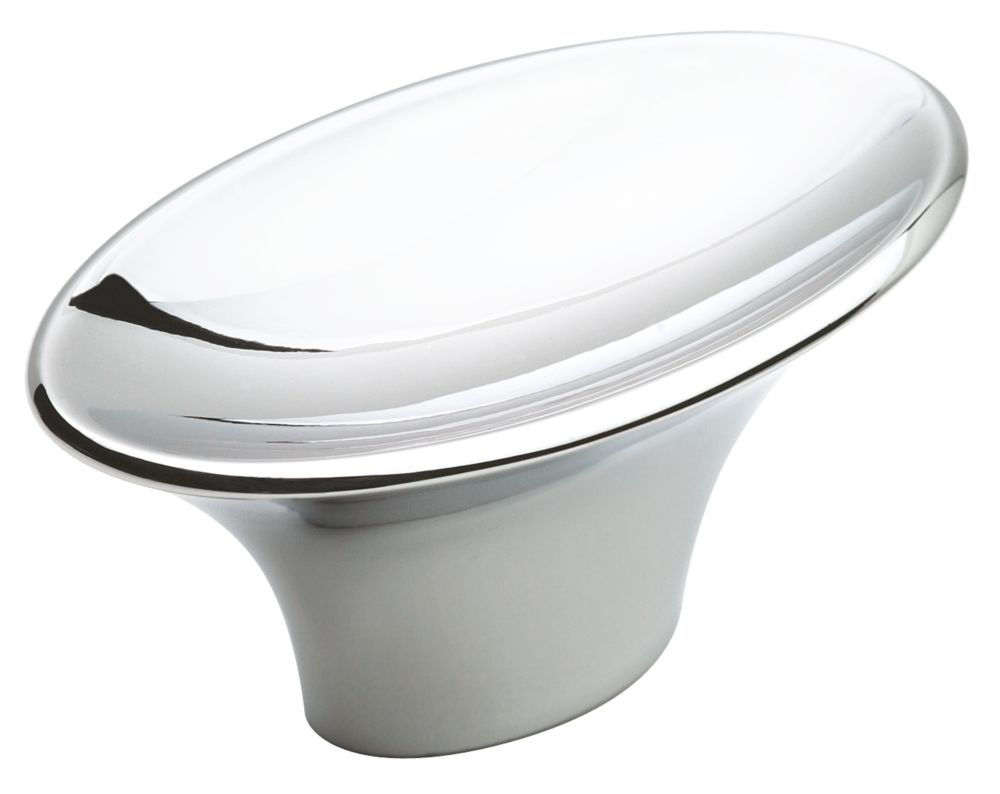 Sleek knob - sleek, oval, 2 In. length