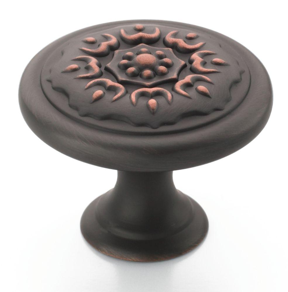 Bouton Diamètre de 1 1/4 po SUNDARA� Collection- FINI BRONZE POLI À L'HUILE