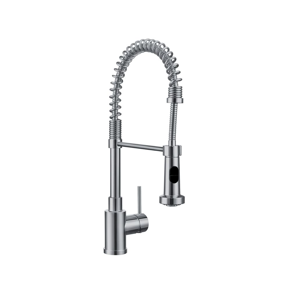Blanco Premium Semi-Pro Faucet With Dual Spray, Stainless Steel Finish