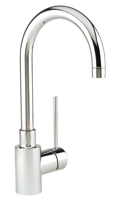 Premium Solid-Spout Kitchen Or Bar Faucet, Stainless Steel Finish