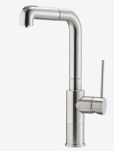Premium Kitchen Faucet, Pull-Out Spray, Stainless Steel