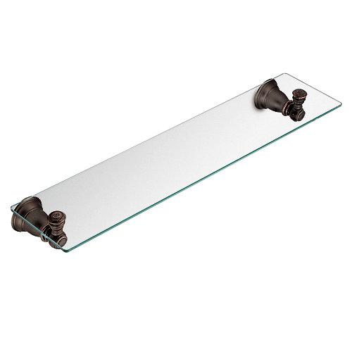 Kingsley Oil Rubbed Bronze Glass Shelf