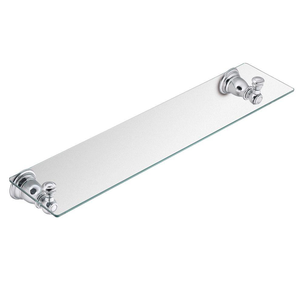 Kingsley- Étagère en verre, Chrome