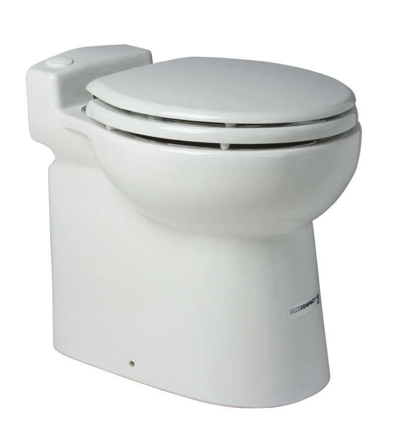 Sanicompact C48 1.28 GPF Single Flush Round Bowl Toilet in White