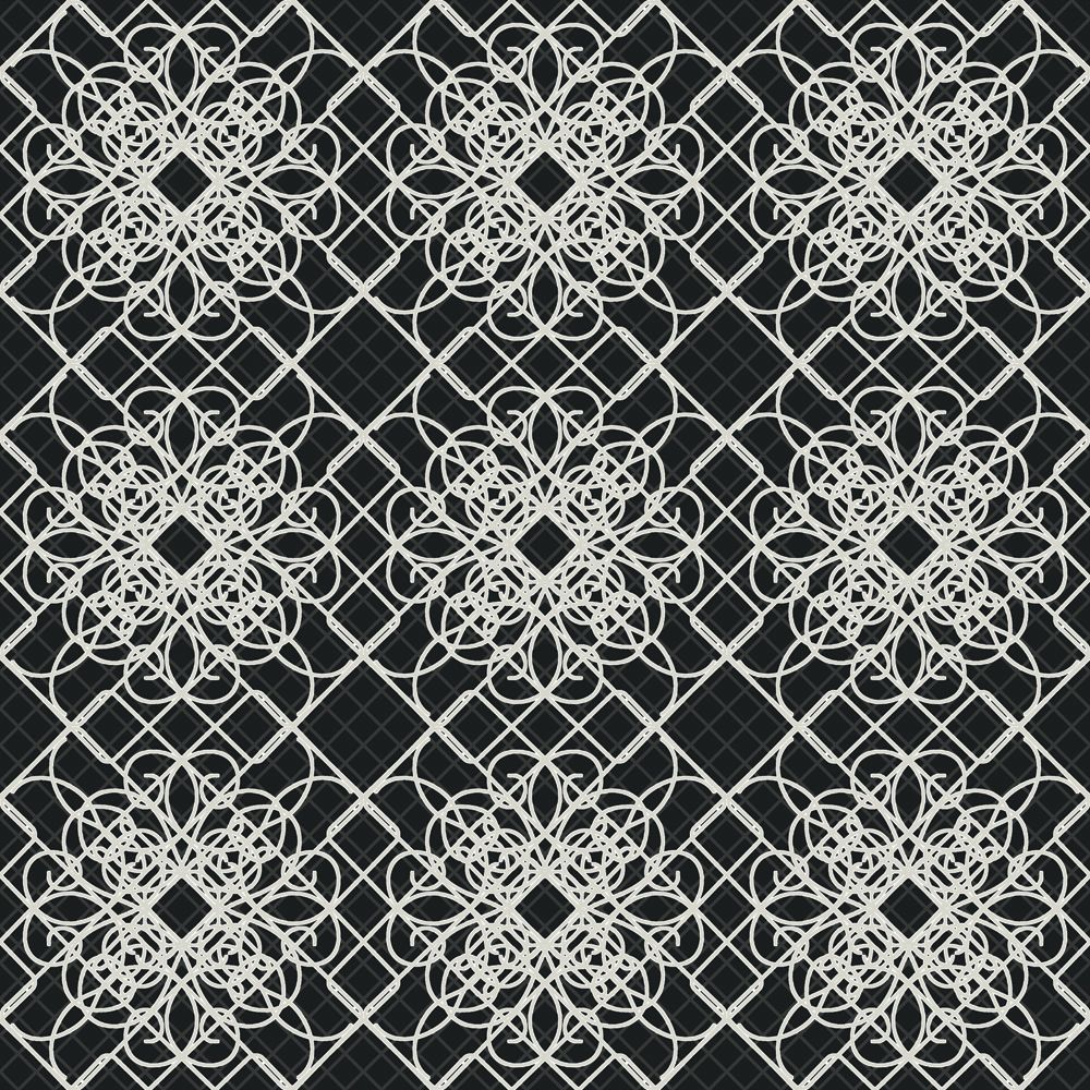 The wallpaper company 20 5 in w black and white giro lace for Home depot wallpaper