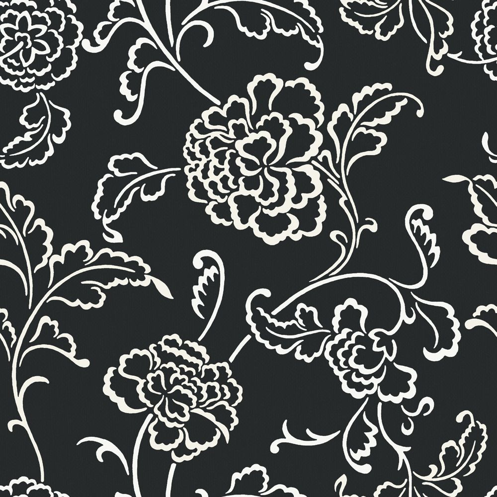 The wallpaper company 20 5 in w black and white large for Wallpaper home depot canada