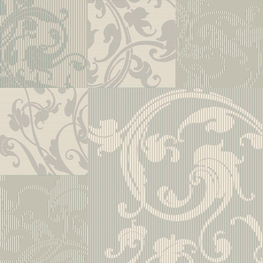 The wallpaper company papier peint 20 5 beige neutre avec for Papier peint arabesque