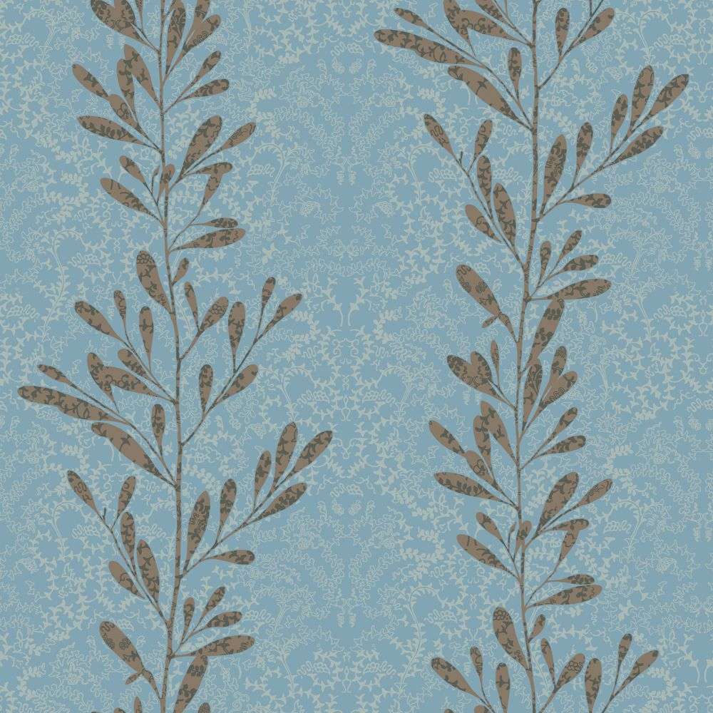 The wallpaper company 20 5 in w brown and blue modern for Wallpaper home depot canada