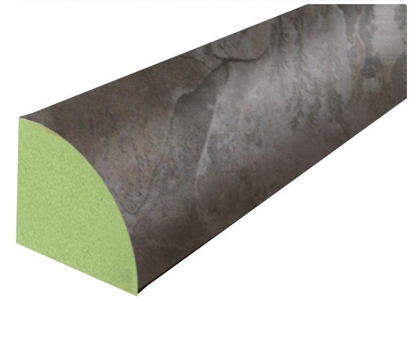 Stratifié Quart-de-rond ardoise noire - 238 cm (94 po)