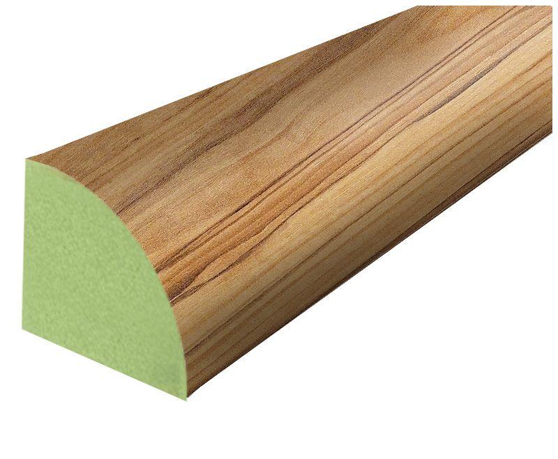 Stratifié Quart-de-rond bois dolivier Mission - 238 cm (94 po)