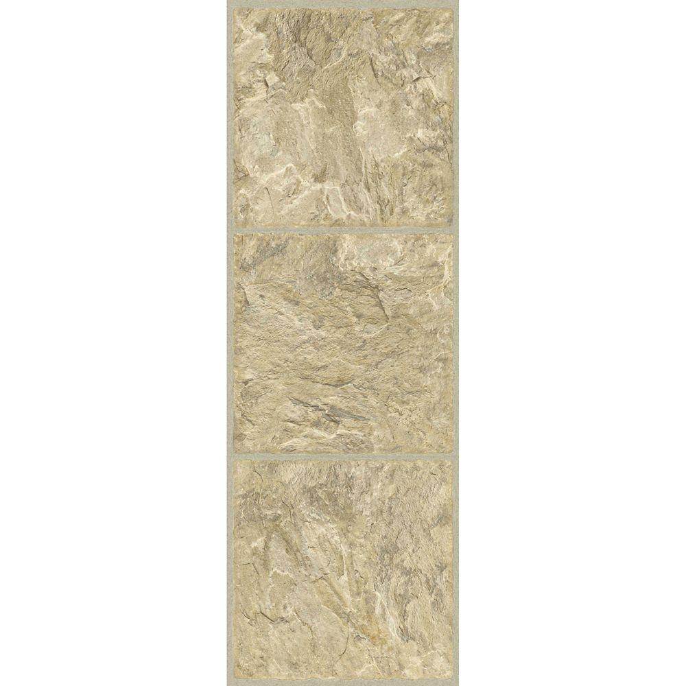 Vinyl Tile Sheet in Gold (24  sq. ft./case)