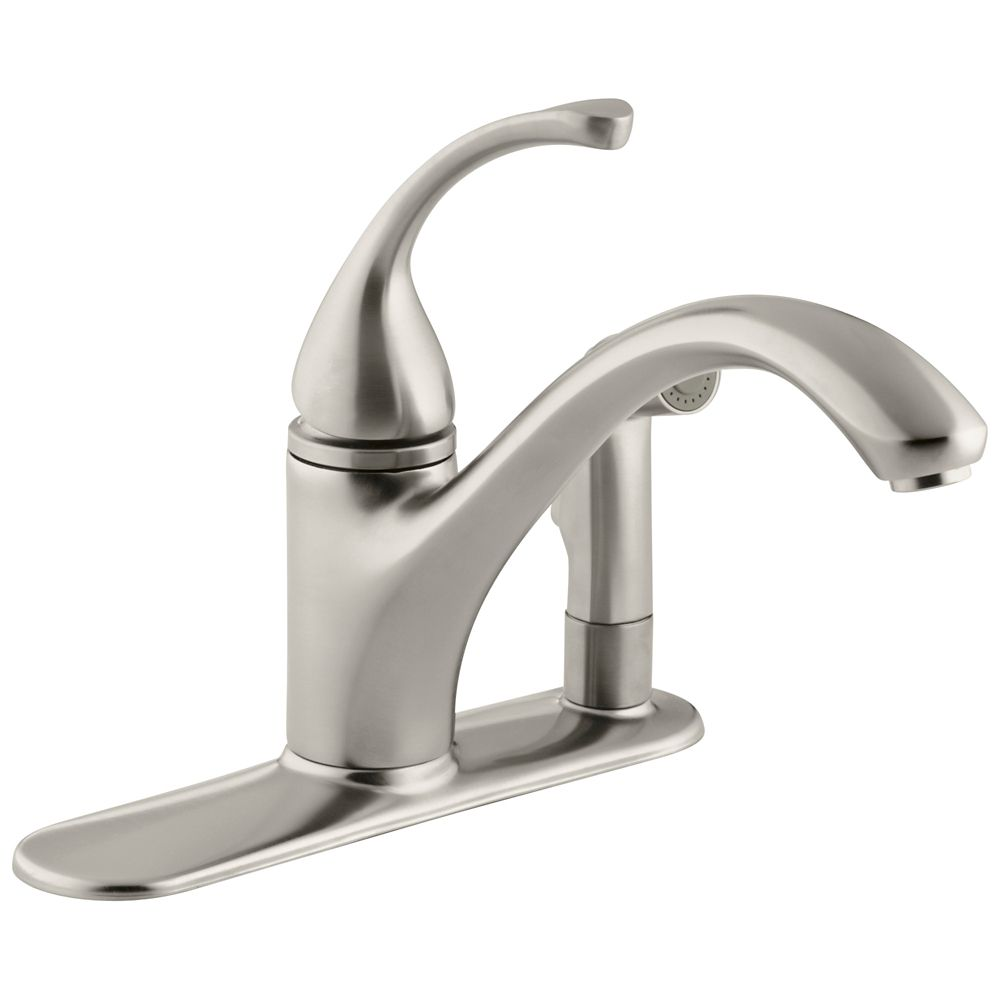 Fort Single-Control Kitchen Sink Faucet, Vibrant Brushed Nickel K-10413-BN Canada Discount