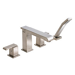 Arzo Roman Bath Faucet with Hand Shower in Chrome (Valve Sold Separately)