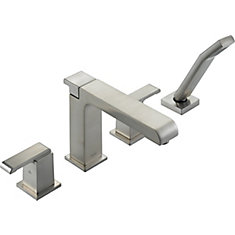 Arzo Roman Tub Trim with Hand Shower, Stainless Steel