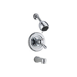 Innovation 3-Spray Tub  Shower Faucet in Chrome