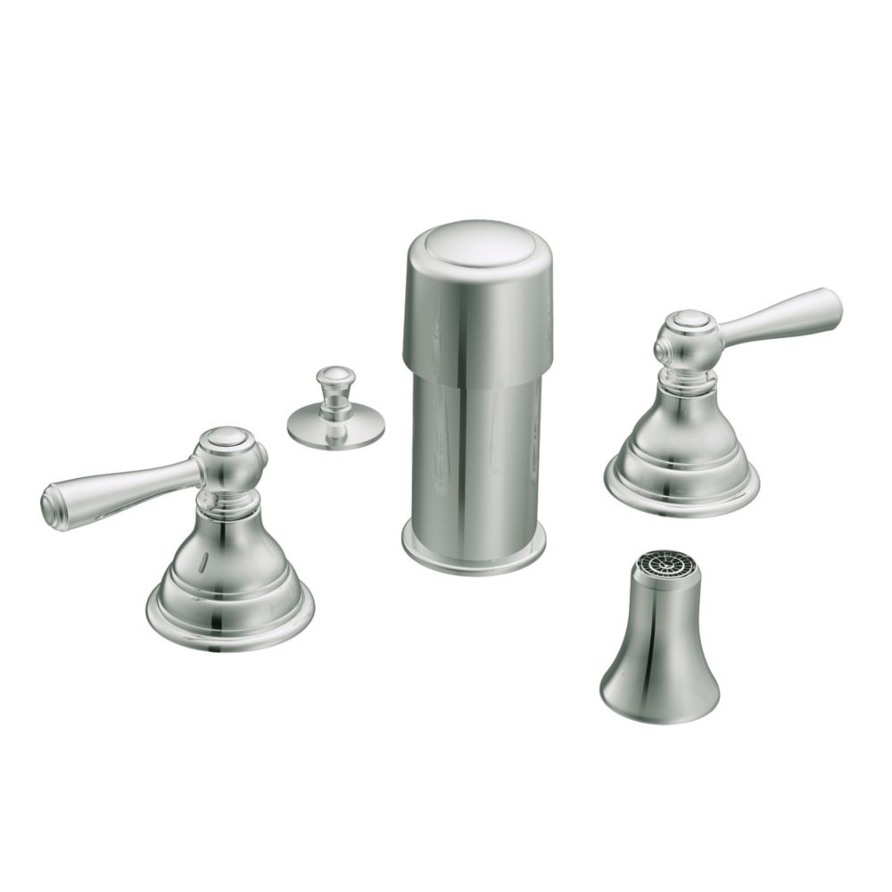 Moen eva single handle bathroom faucet in brushed nickel for Bathroom faucet finishes