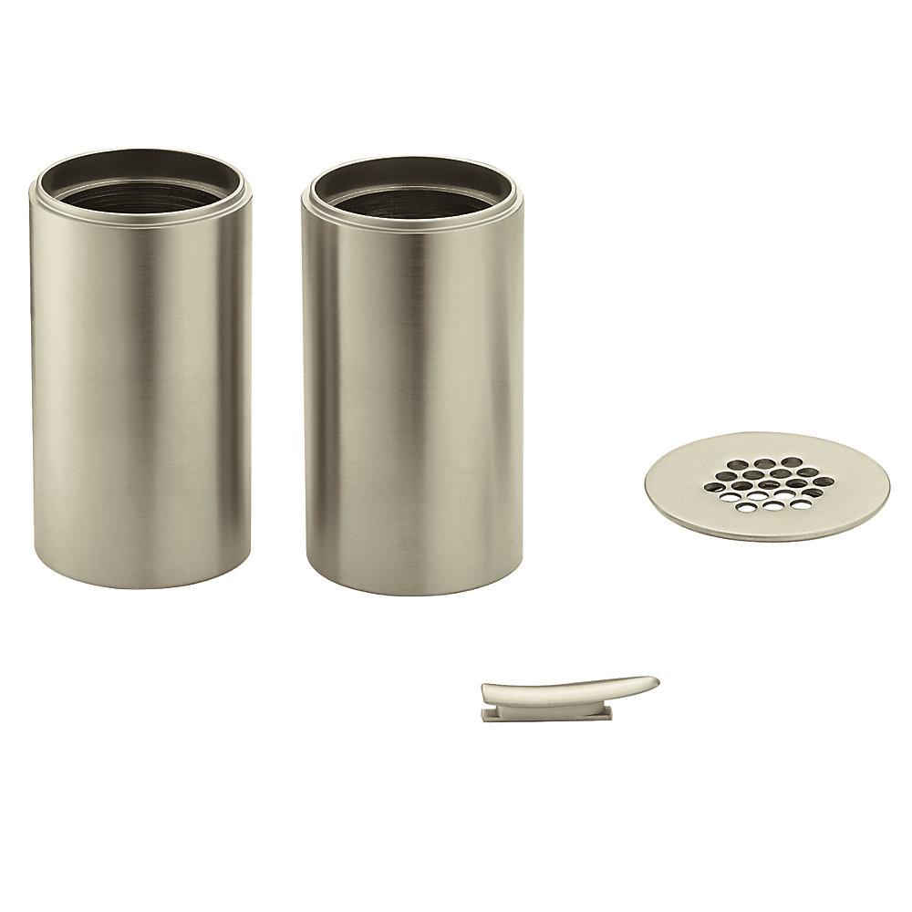 Kit d'extension de cuvette pour robinet de salle de bains Kingsley ( # 6102BN) - Fini nickel brossé