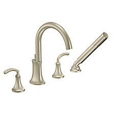 Icon Two Handle Roman Tub Faucet with Handshower in Brushed Nickel (Valve Sold Separately)
